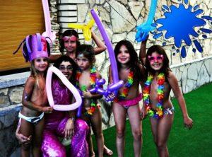 Juegos para niños en la piscina en Madrid