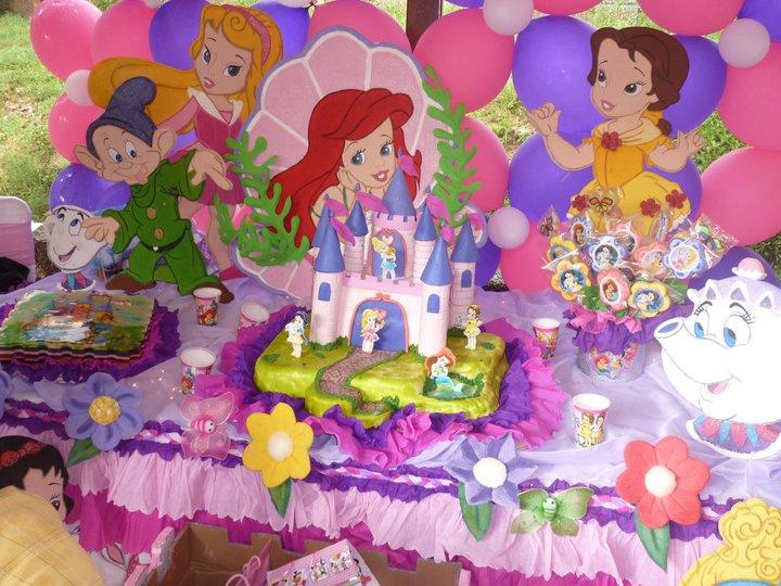C mo hacer una fiesta de princesas disney en madrid - Decoracion fiesta princesas disney ...