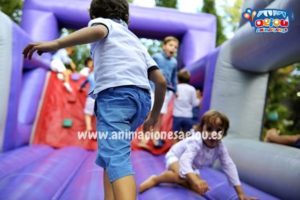 fiestas  infantiles gymkana con niños