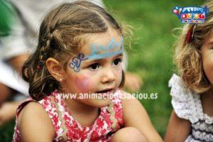 Procedimiento de maquillajes infantiles de princesa