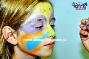 Diferentes tipos de pintura para pintacaras infantil.