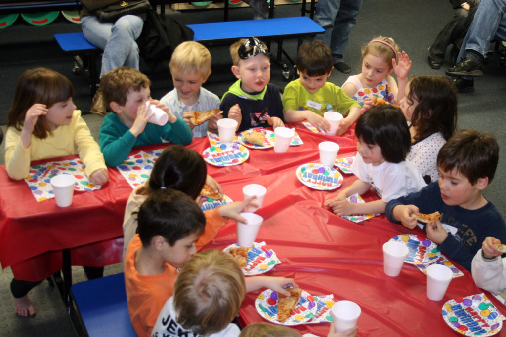 Menú especial en una fiesta con niños