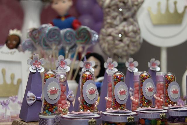 Regalos en la decoración de fiestas de princesas en Madrid
